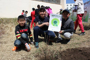 Various aged children participating in Green Wave(Mongolia)