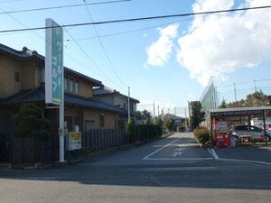 県道からの入口