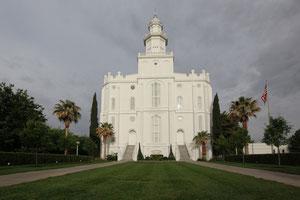 Foto: Mormonentempel  der Kirche Jesu Christi der Heiligen der Letzten Tage
