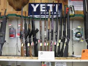 Foto: Waffen im Supermarkt