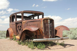Foto: Autowrack an der alten Route 66