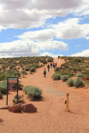 Foto: Fußweg zum Horseshoe Bend