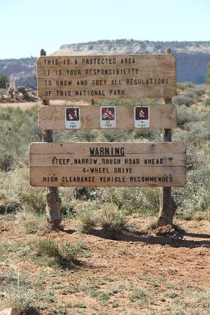 Fot: Anfang des Shafer Trails
