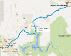 Foto: Route Las Vegas - St. George.