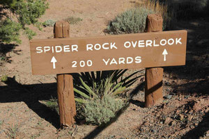 Foto: Trail zum Spider Rock