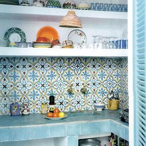 zementfliesen southern tiles mediterrane wand und. Black Bedroom Furniture Sets. Home Design Ideas