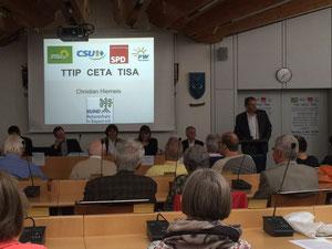 Sitzungsaal in Unterhaching: Kontroverse Diskussionen