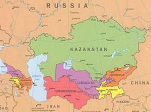 A sinistra le regioni del Caucaso, a destra quelle dell'Asia Centrale