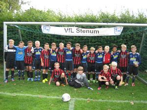 Vereint - die Teams des HSV & des VfL Stenum