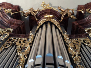 Bild: Die Sandtner-Orgel in der Stadtpfarrkirche in Berching. Foto: Christian Klenk