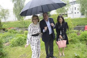 Dr. Greimel mit Bürgermeister Schaden und Frau Jianzhen
