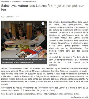 Article 25 octobre 2013