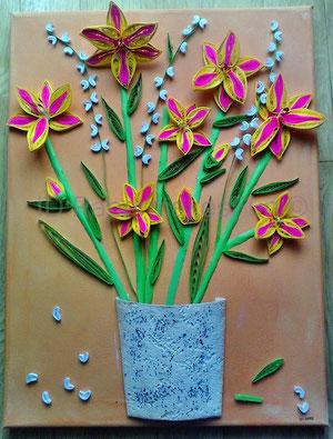 Lilien im Blumentopf