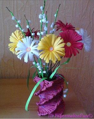 Paper - Quilling - Blumenarrangement