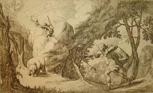 Arcas et Callisto en ourse