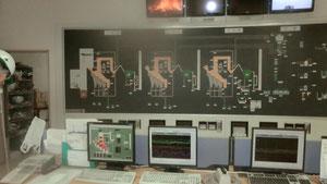 コンピュータで制御している高柳清掃工場