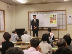 青島後援会「市政報告会」