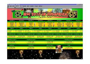 GEOS - GeoCalc Südafrika Spielplan WM 2010