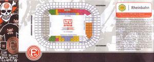 Eintrittskarte Fortuna Düsseldorf