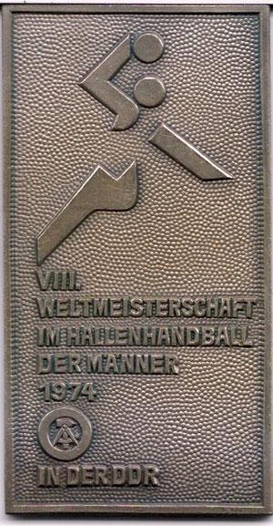 Gedenktafel zur VIII.Handball-WM der Männer 1974 in der DDR