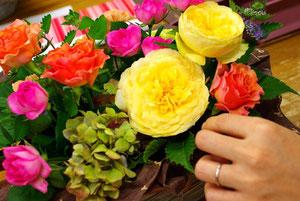 フローラルサロン No.10 お花を自分で選んでアレンジ!