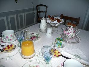 petit déjeuner des hôtes chambre hôtes crocq