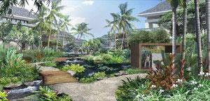 熱帯リゾート開発のパース