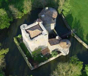 Tennessus medieval castle B&B seen from the air
