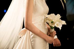 Schleier bei der Hochzeit