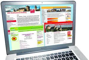 Das Angebot auf den unterschiedlichen Homepages unterscheidet sich in Qualität und Quantität.