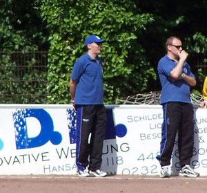 Die Coaches waren in der 1. Halbzeit von der Leistung ihrer Mannschaft nicht begeistert!