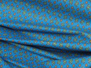 Provence, kleines Muster auf Blau 2