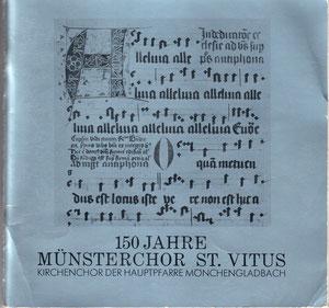 Festschrift des Münsterchores zum 150-jährigen Jubiläum