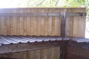 Lattung für Holzschindeldach