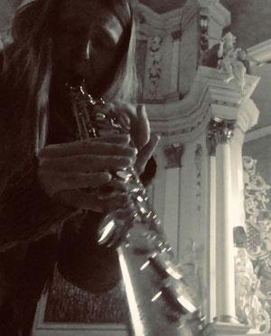 Saxophonistin Kristina Mohr Sopran