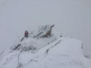 Mönch, Lauper, Abstieg Ostgrat