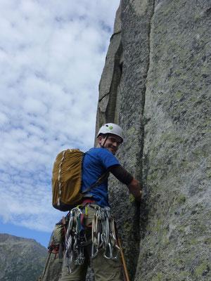 3. Seillänge, Alpenliebe, Teufelstalwand, klettern, Andermatt