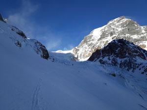 Skitour, Tödi, Tagestour, Tödi an einem Tag, Tierfehd, erster Gletscherbruch, zweiter Gletscherbruch, Schneerus