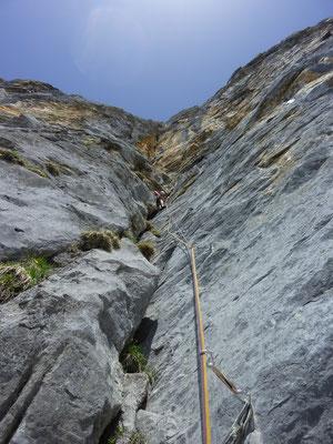 Via Isabella, Laucherenstock, Mehrseillänge, Rugghubel, klettern, Engelberg
