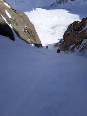 Skitour, Tödi, Tagestour, Tödi an einem Tag, Tierfehd, Abfahrt Schneerus, Couloir, Rinne