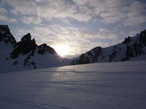 Sonnenaufang über der Porta d' Es-cha