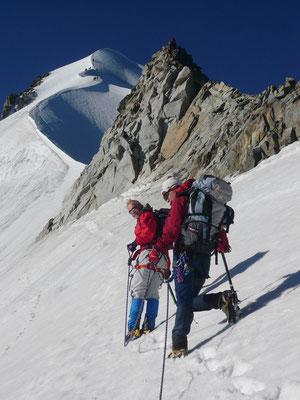 Piz Bernina, Biancograt, Gendarm