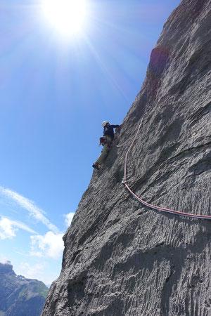 Klettern, Mehrseillängen, Schweiz, Ofen, Chrüzspinne, Kreuzspinne, Chriizspinne, multipitch, Melchtal
