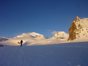 Skitour, Skihochtour, Wallis, Schweiz, Strahlhorn, Rimpfischhorn, Allalingletscher, Hohlaubgletscher