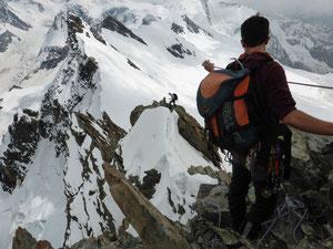 Breithorn Überschreitung Roccia Nera, Breithorn östlicher Zwilling, Breithorn westlicher Zwilling, Breithorn Mittelgipfel, Breithorn Westgipfel