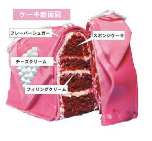 3dケーキ 断面図