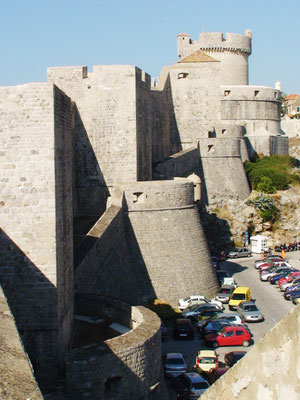 Strong defense points of the famous Walls of Dubrovnik