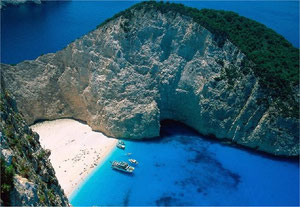 The famous beach of Zakinthos
