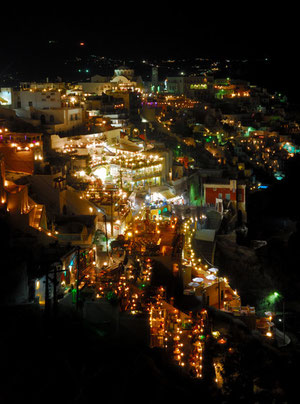 Night view at Fira