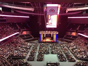 La Arena Ciudad de México con cerca de 20 mil almas escuchando a su Santidad